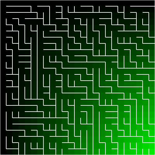 A binary-tree maze